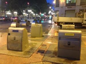 Corredores verdes urbanos y contenerización de residuos soterrada y clasificada